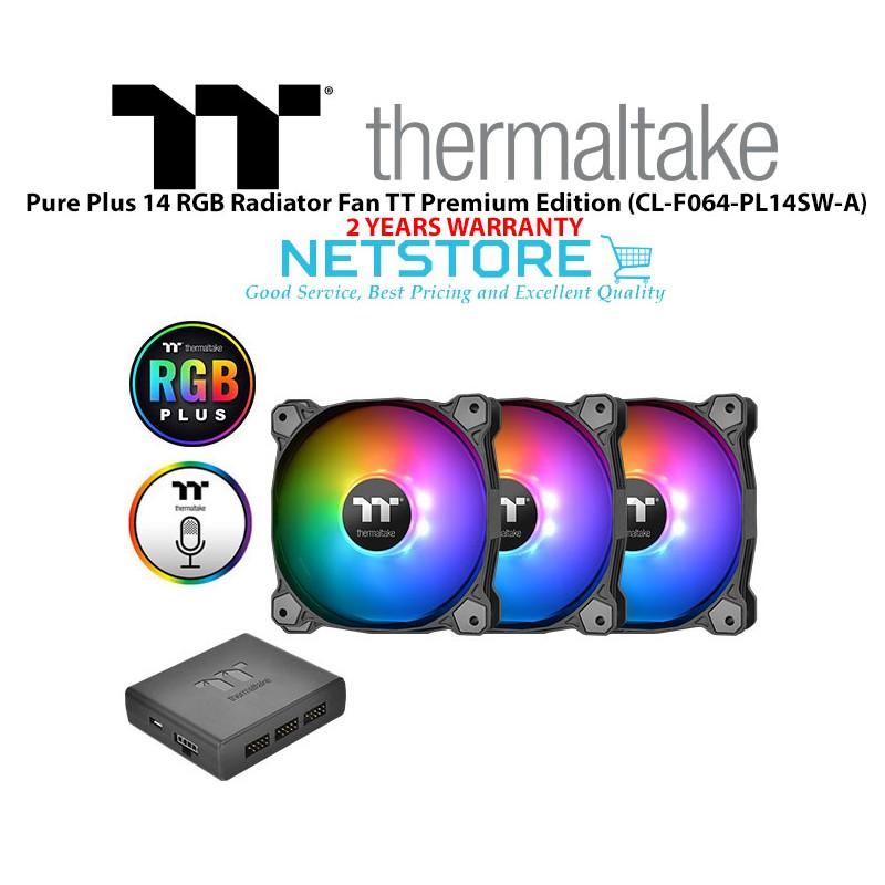 Thermaltake Pure Plus 14 LED RGB Radiator Fan TT Premium Edition (3 Fan  Pack)