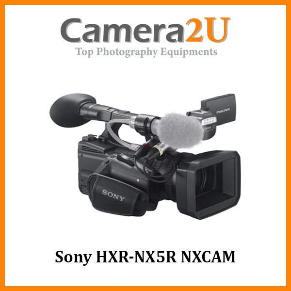 Sony HXR-NX5R NXCAM Professional Camcorder with Built-In LED Light (Malaysia Warranty)