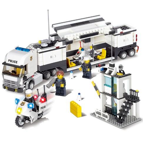 Kids Toys City Street Police Station Car Truck Building Blocks Bricks Toys