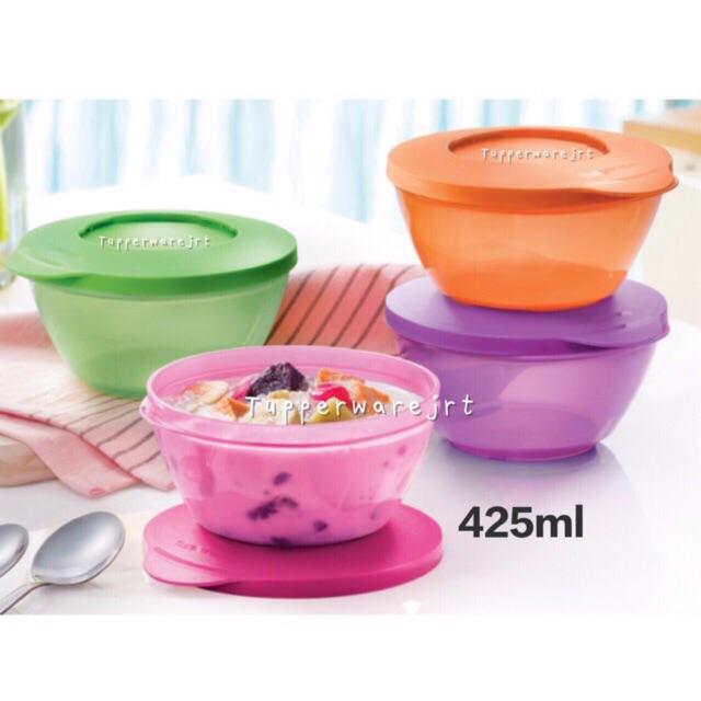 Tupperware Click Bowl Bowls 425ml (Pink / Green / Purple / Orange)