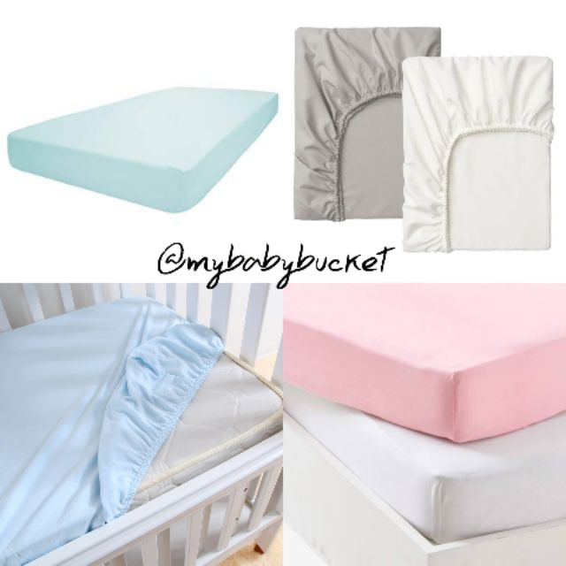 COT FITTED SHEET 100/% COTTON PLAIN COLOURS cot bed nursery baby mattress cover