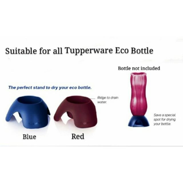 Tupperware Eco Bottle Stand (1) (The Sapphire Eco Collection) - Red or Blue color