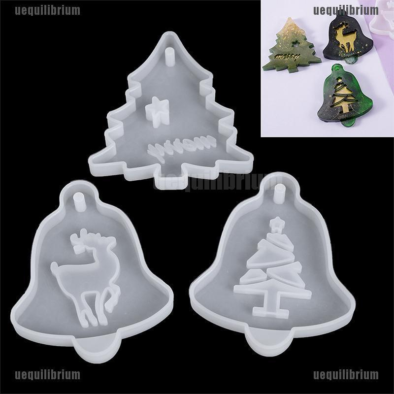 Christmas Hanging Tag Jewelry Silicone Mold Resin-Epoxy Mould Casting Craft Tool