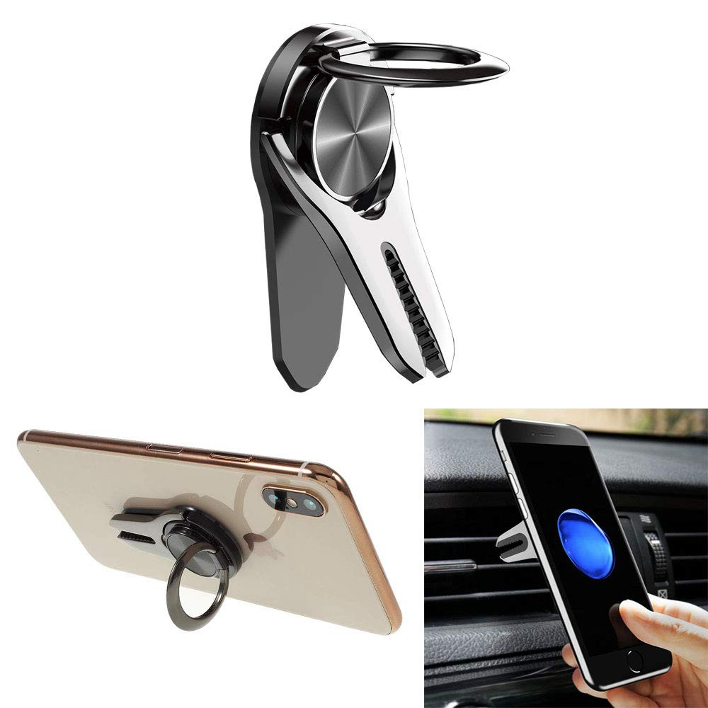Rose Gold Transer Cell Phone Grip Kickstand Cell Phone Ring Mirror Holder 360° Rotation Zinc Alloy Finger Loop Ring Stand