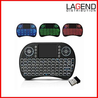 I8 MINI WIRELESS BACKLIT TOUCH PAD KEYBOARD MOUSE COMBO KEYPAD - PC/ANDROID  BOX TV  I8 ALF MINI QWERTY AIR MOUSE
