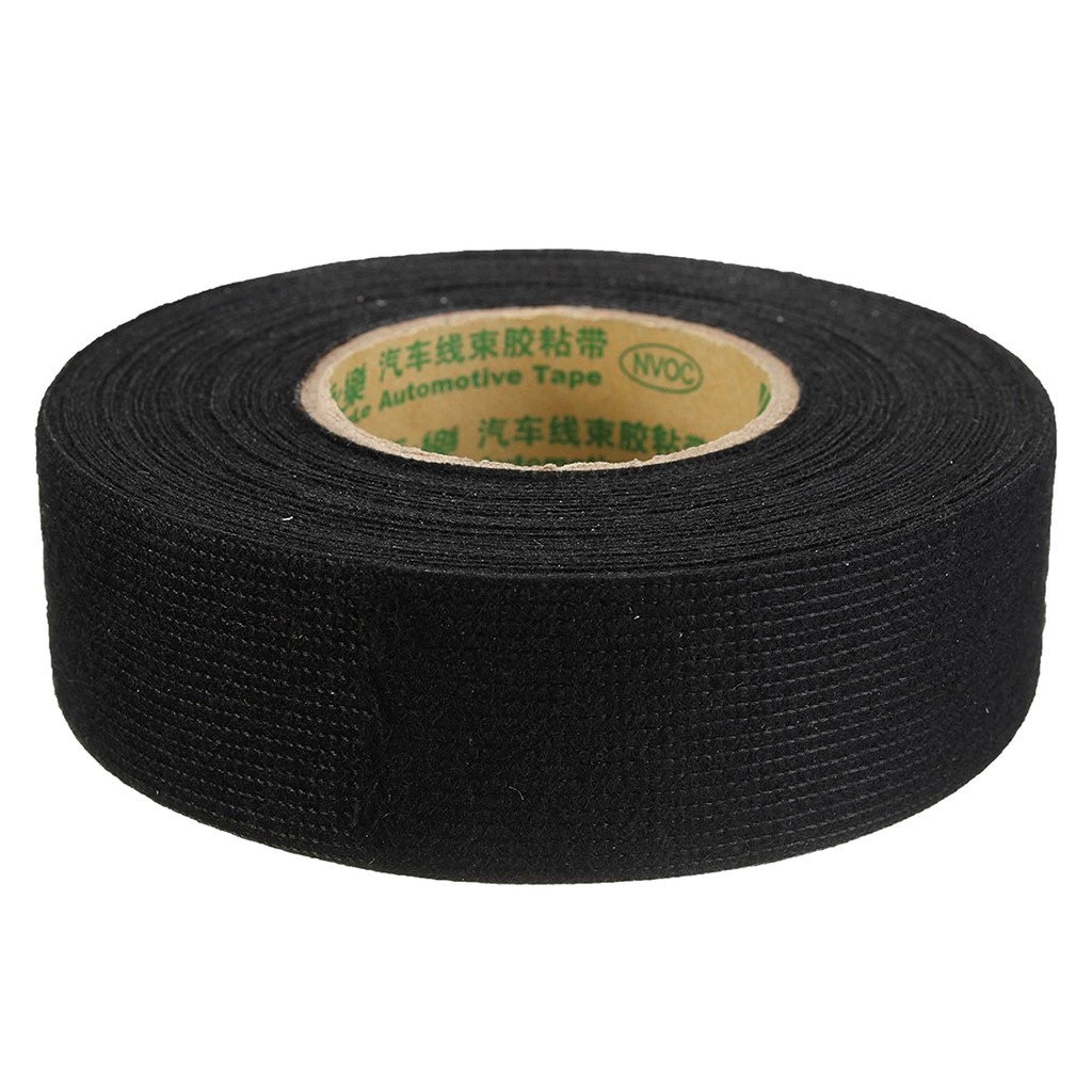 Black Anti Wear Adhesive Cloth Fabric Tape Wiring Harness 9mm Wire 19mm 9mm15m Shopee Malaysia