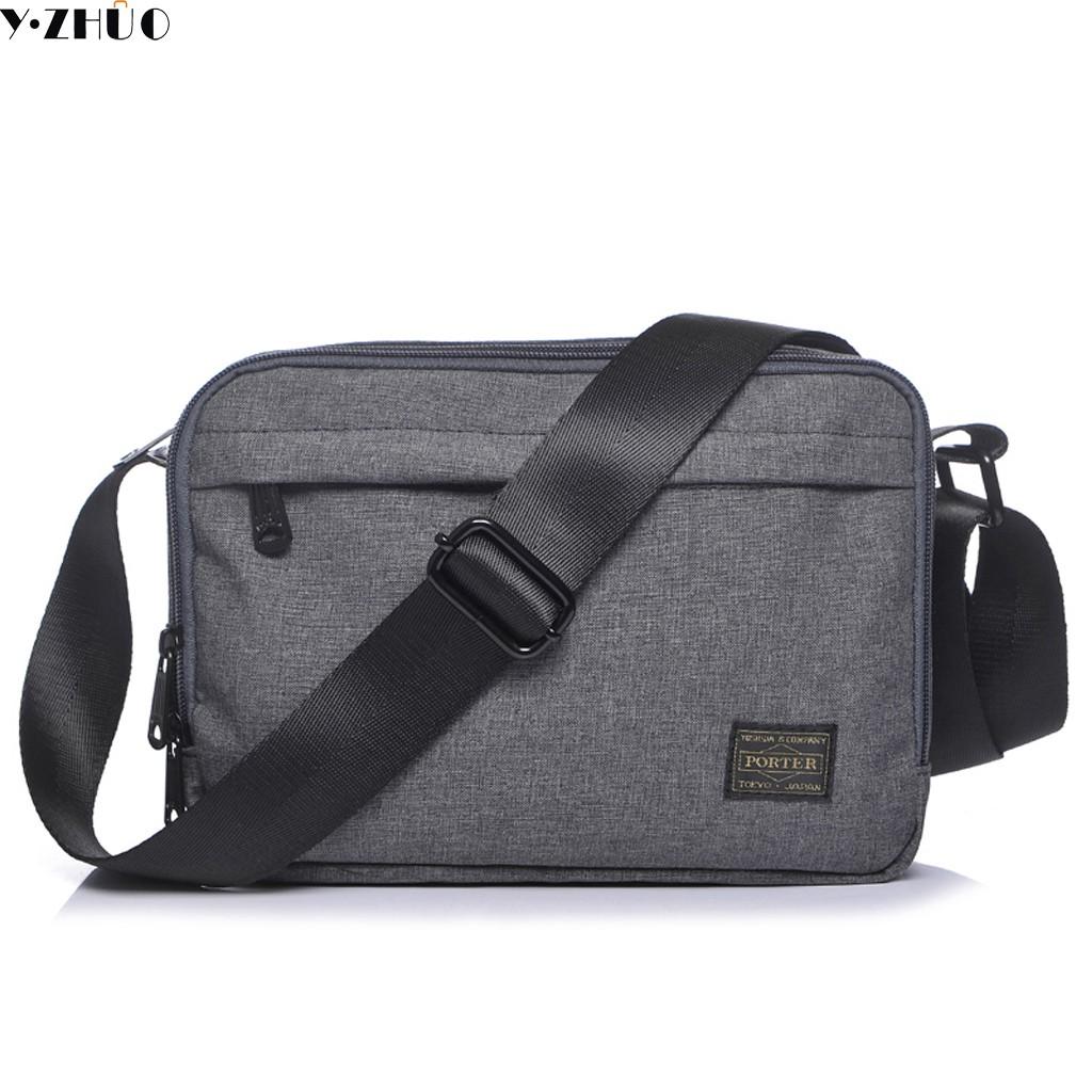 Porter Japan Yoshida Waist bag shoulder bag for Men s Messenger  Black    Grey   e0e86ef5d9c8d