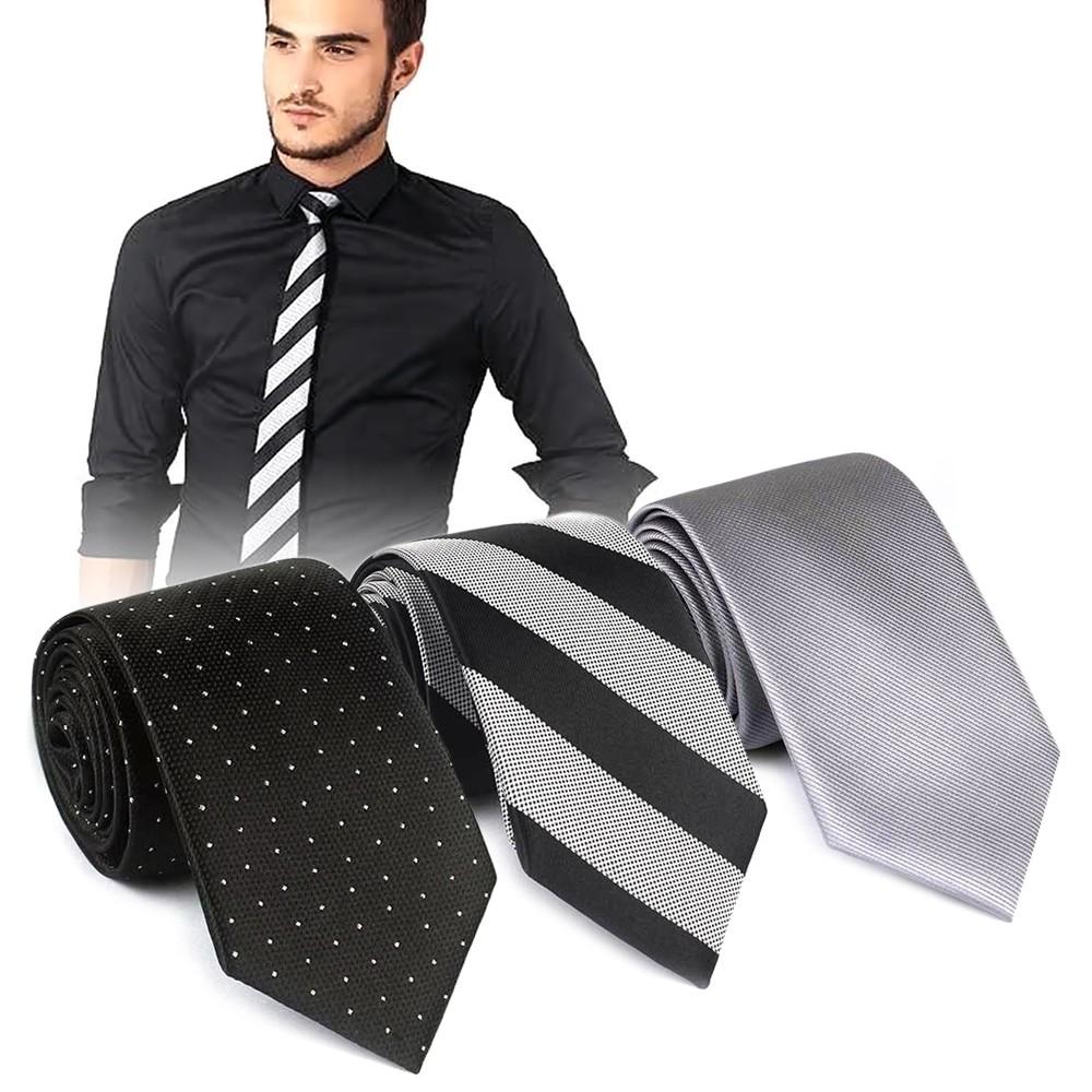 Mens Fashion Tie Classic Wedding Necktie Premium Tie Random Color Tie