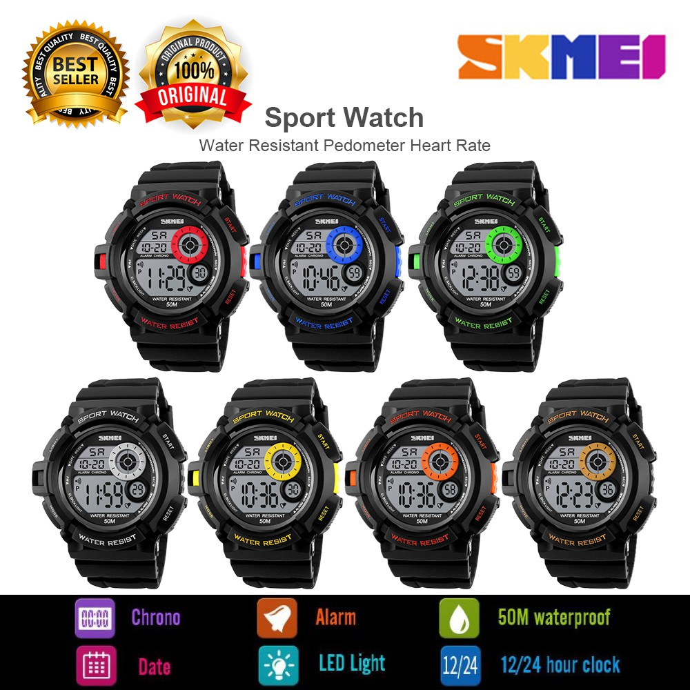 AVOSKY Skmei 1222 Sport Fashion Casual LED Shock Resistant Digital Watch