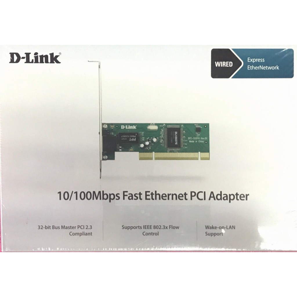 D-LINK LAN Network Card 10//100 Fast Ethernet PCI Dual Speed Adapter DFE-520TX