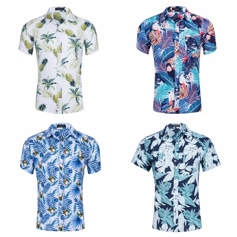 iBajui Hawaii iMeni Summer Hawaiian Shirt Beach Wear Suit