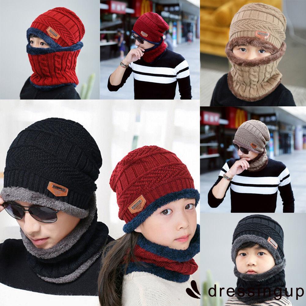 f31211bc0 .GY-Winter Beanie Hat Scarf Set Fleece Warm Snow Ski Cap for Kids Boys Gilrs