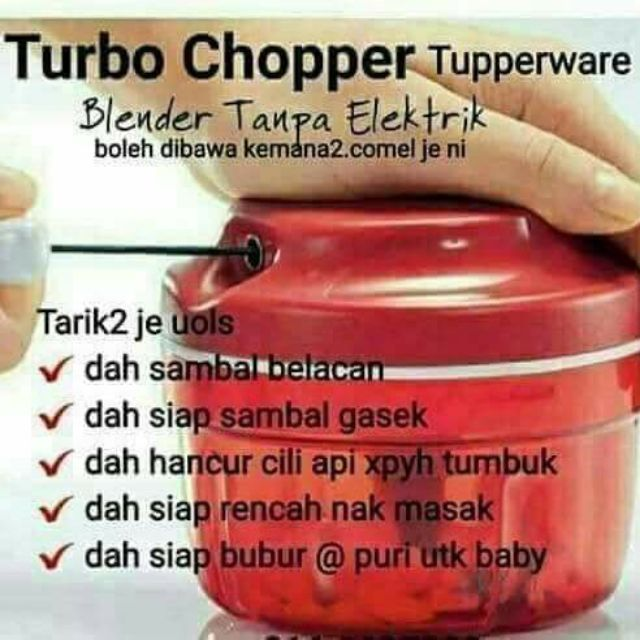 Ready Stock CHOPPER TUPPERWARE get FREE GIFT Freezer Mate
