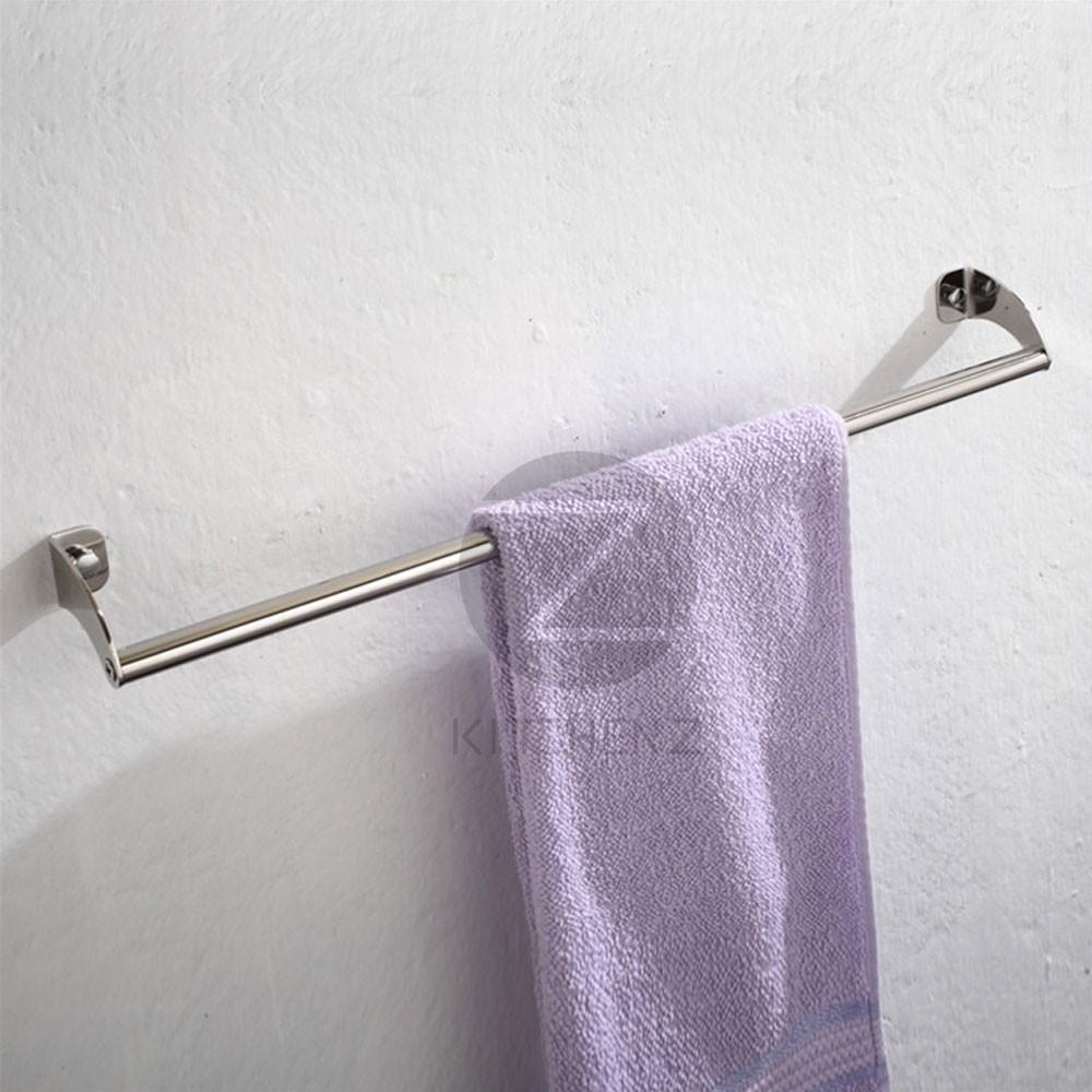 Homez Bathroom Single Towel Bar JQS-F1-60 Stainless Steel -60 cm HMZ-BR-TB-F1-60