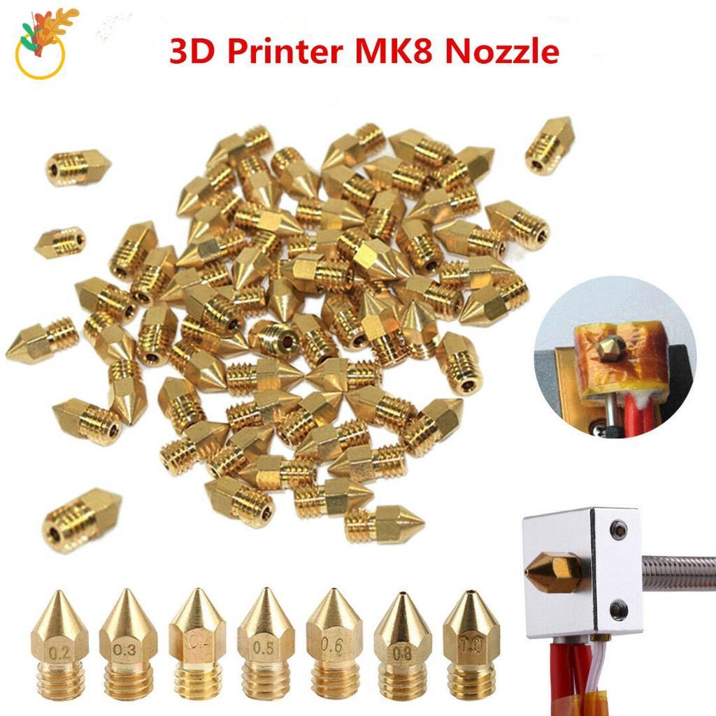 19X/set 3D Printer Extruder MK8 Brass Nozzle for CR-10 Ender