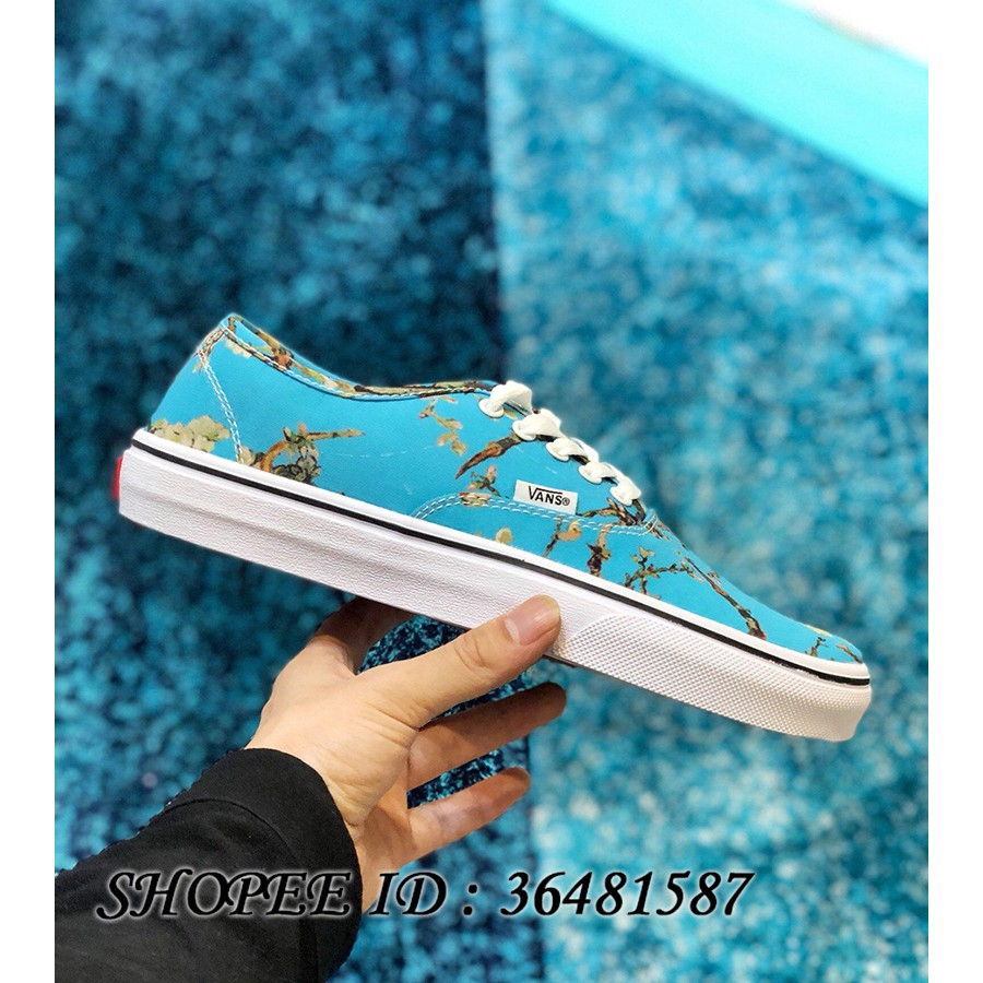 cb5a45c6c8 Original VANS SK8 x Van Gogh Museum High-top Canvas Shoes Almond Blossom