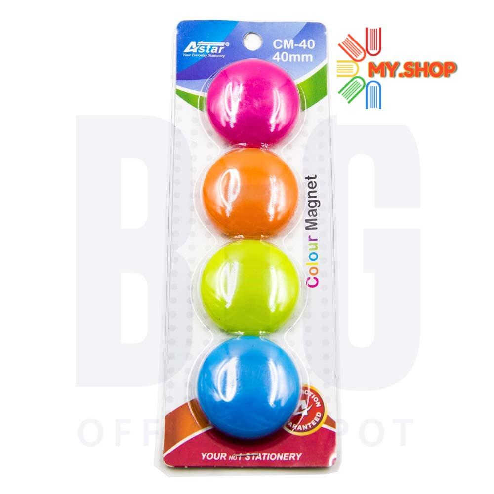 Astar Colour Magnetic Button 40mm CM40