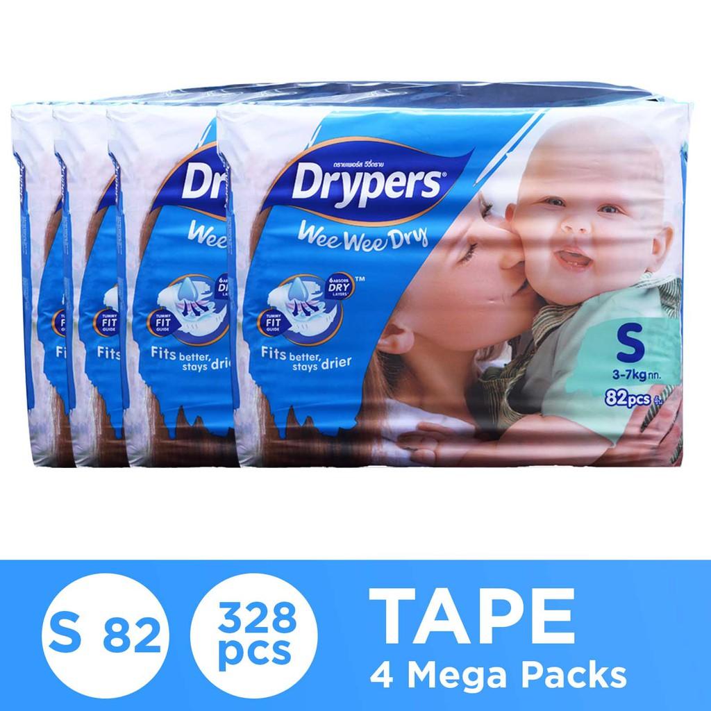 Drypers Wee Wee Dry S164 x 2 TP (328s total)