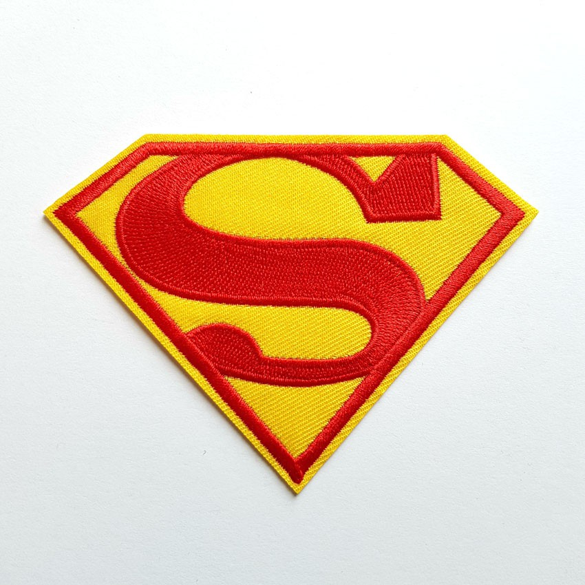 Superman Logo DC Comic Super Hero Iron//Sew On Embroidered Patch