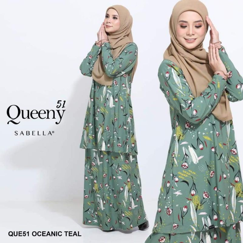 READY STOCK Sabella Queeny Fifty One (Q51) Oceanic Teal (L)