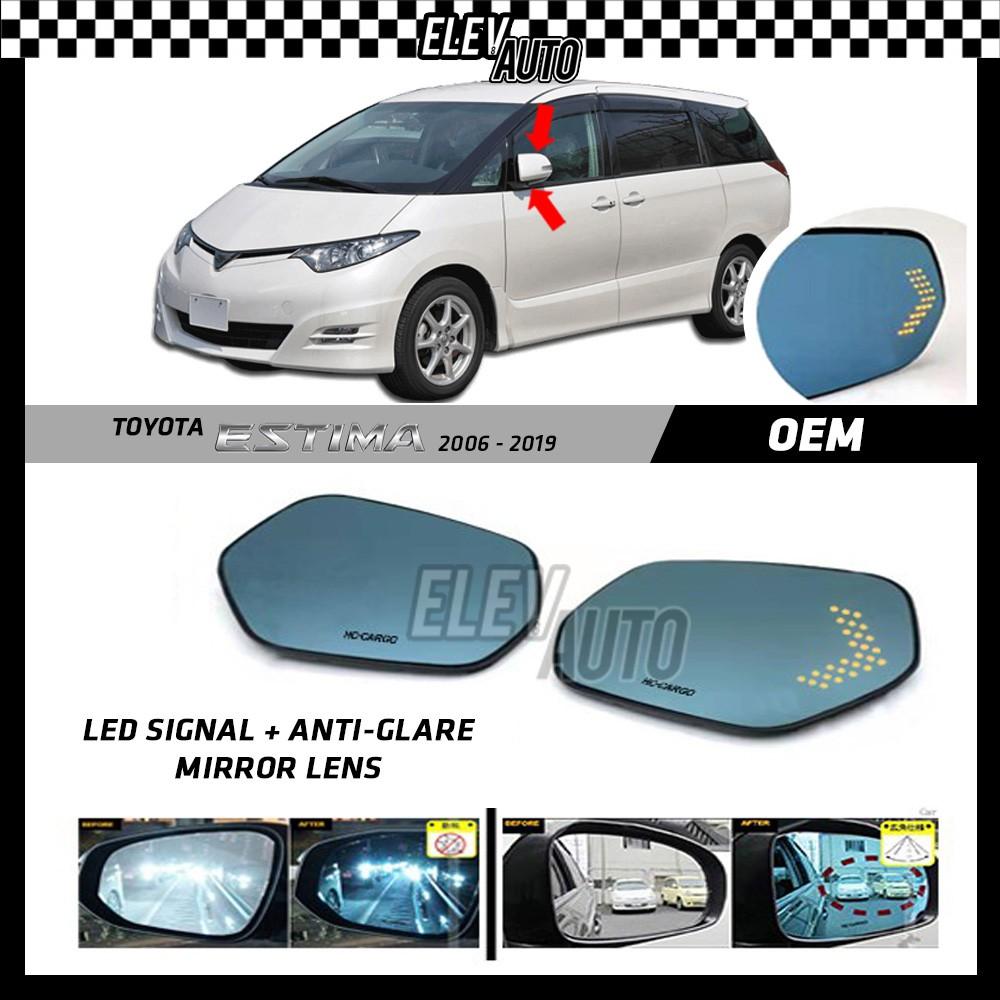 Toyota Estima 2006-2019 LED Signal with Anti Glare Side Mirror Lens