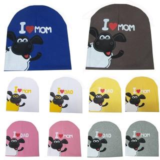 be3e52b51 Toddler Kid Baby Boy Girl I Love Mon Dad Cotton Soft Beanie Hat Cute ...