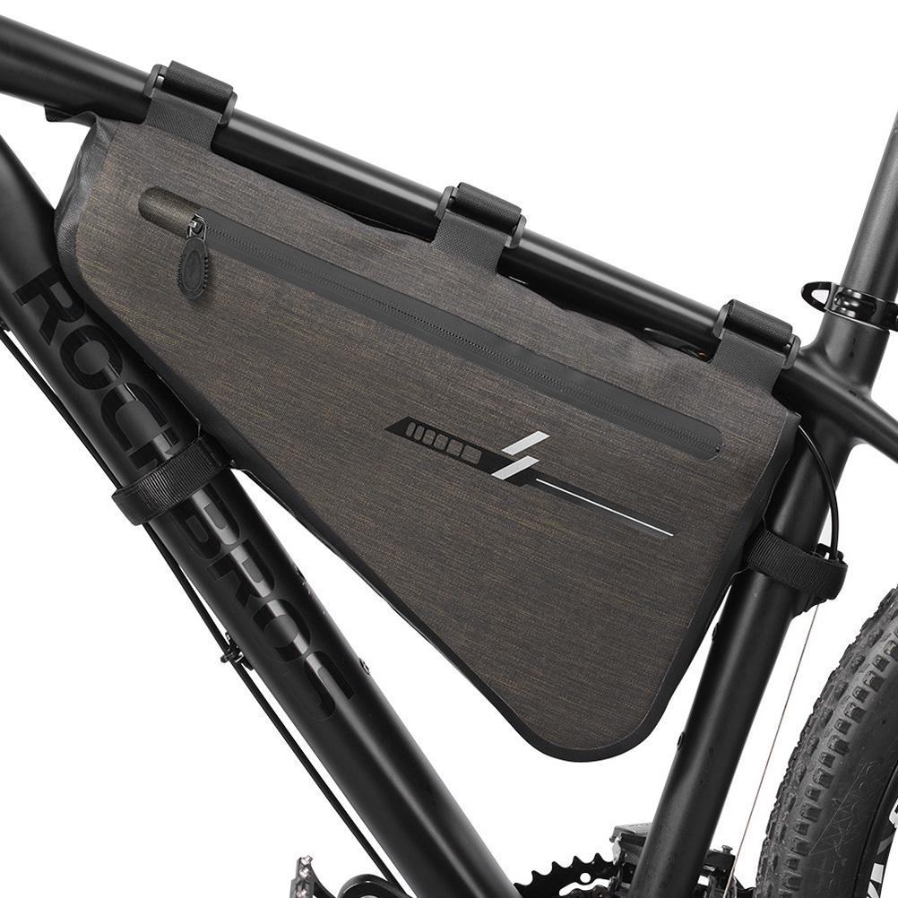 Roswheel 4L Tear-resistant Bicycle Tube Frame Bag Triangle Pannier Waterproof