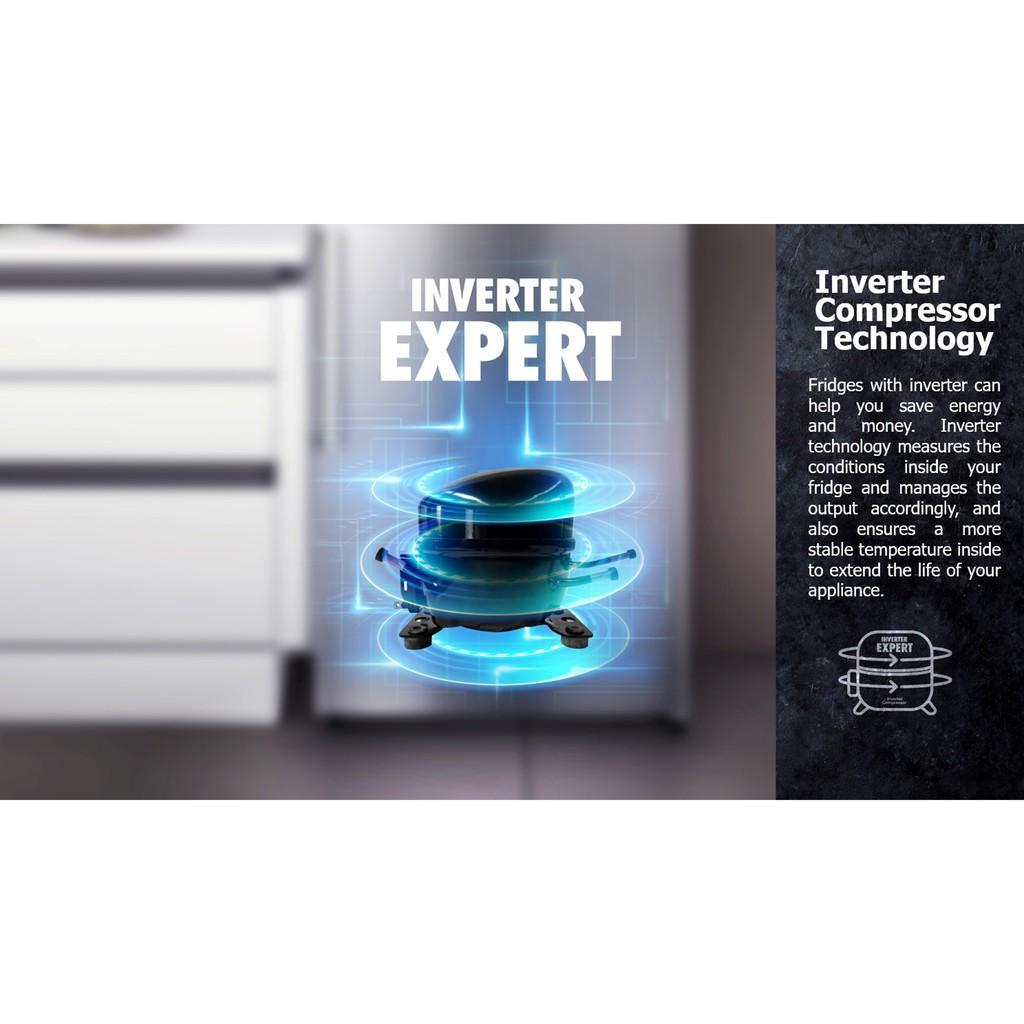 Hisense RS680N4AWBU 620L Side By Side Inverter Refrigerator Fridge Peti Sejuk