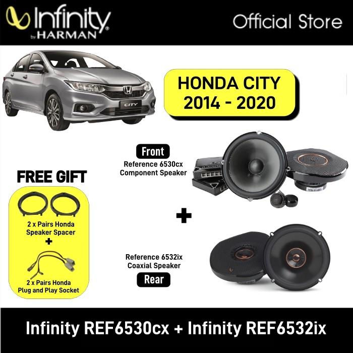 Infinity REF-6530cx 6.5'' Component Speaker System + Infinity REF6532ix 6.5'' Coaxial Speaker Package Honda City