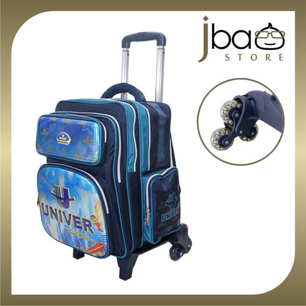 Univer 6 Wheels Trolley School Bag Kid Primary Backpack