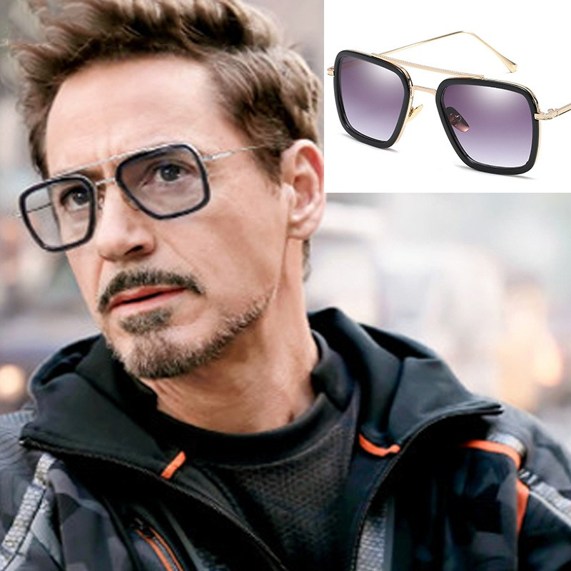 c990408277517 Fashion Avengers Tony Stark Flight 006 Style Sunglasses Men Square Aviator  Brand