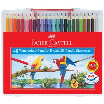 Faber-Castell Water Colour Pencil In Wonder Box 48L (ISBN: 114568)