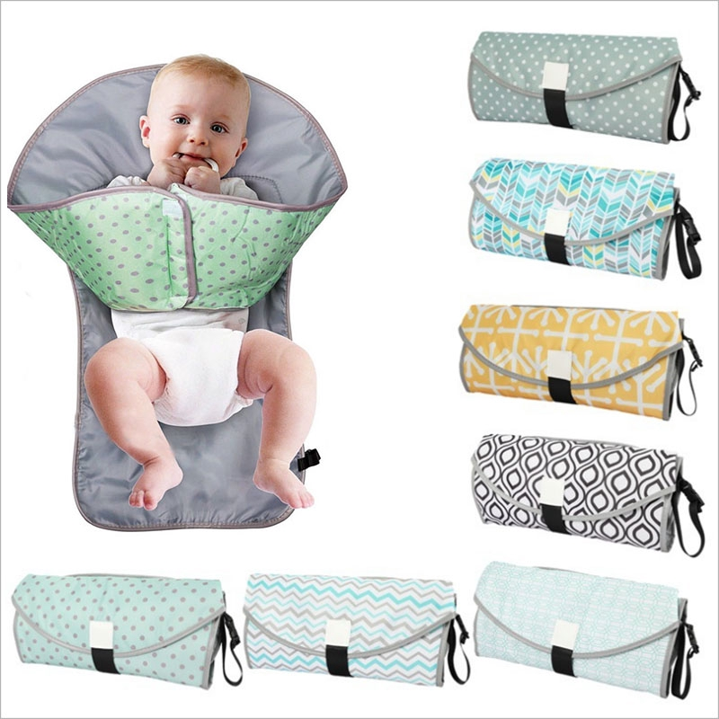 3-in-1 Multifunctional Portable Infant Baby Foldable Urine Mat Waterproof Nappy Diaper Changing Cover Pad Travel Outdoor