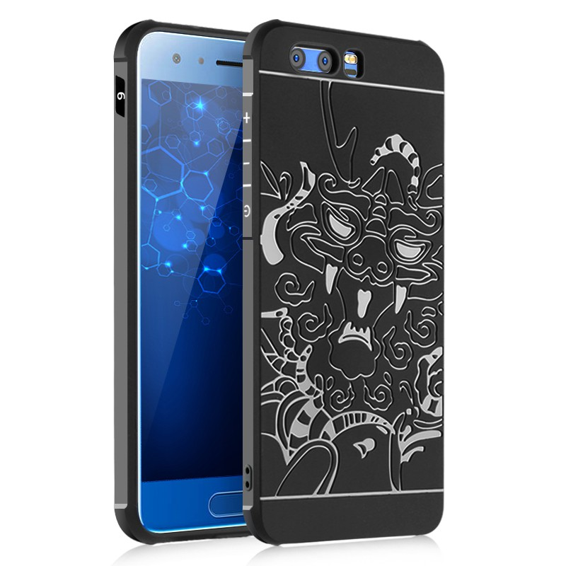 reputable site 1def8 a3848 Huawei Honor 6 Plus/7/8/9 Luxury Carved Dragon Thin Matte Silicone Cover  Case