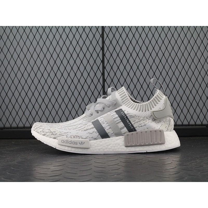 Original Adidas NMD R1 PRIMEKNIT BY9865 Grey Women Men Sport Shoes ... 02adfadcd