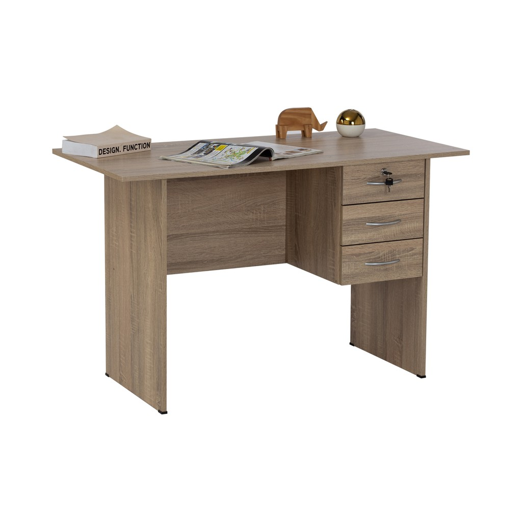 Furniture Direct Eco 4 feet Wooden Office Table with 3 drawers