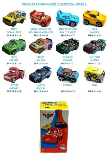 Disney Cars Mini Racers No 35 Fishtail Shopee Malaysia