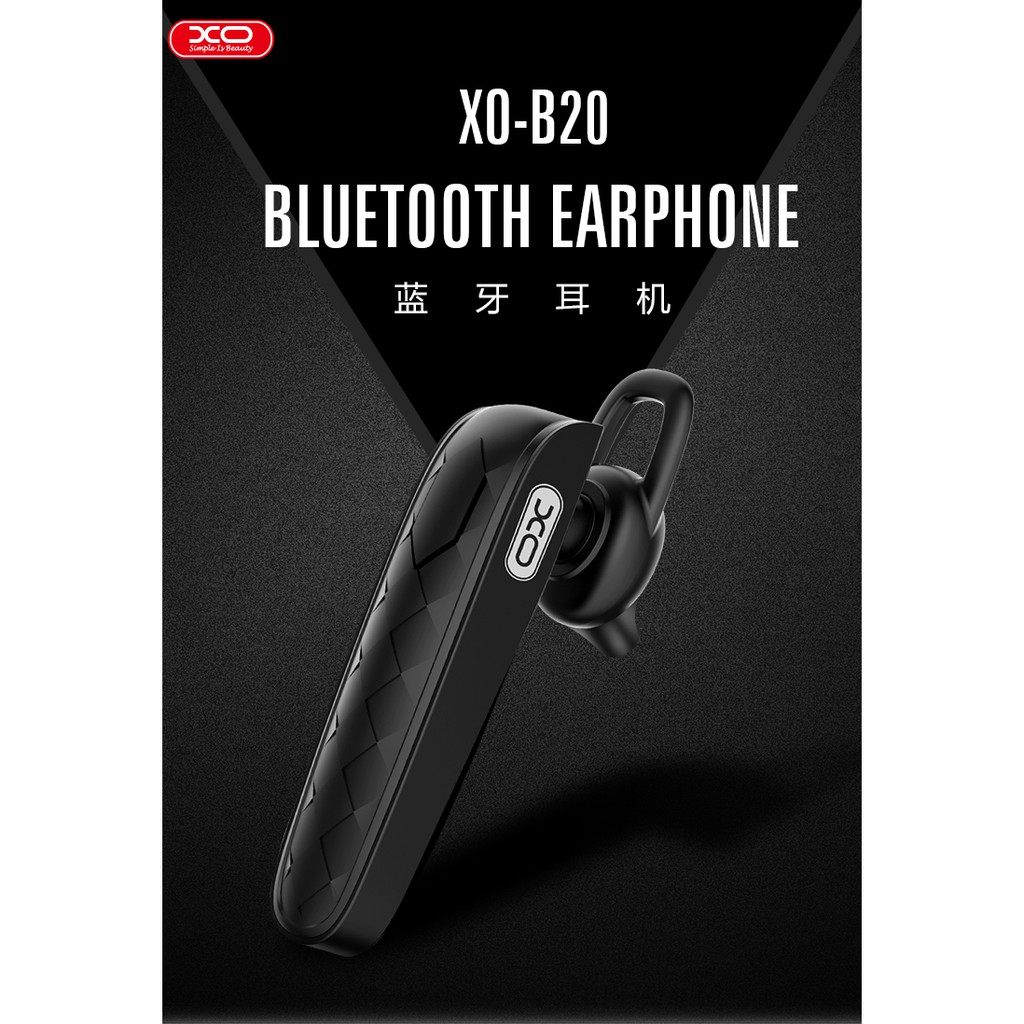XO B20 WIRELESS BLUETOOTH IN EAR EARPHONE HANDSFREE INTELLIGENT NOICE CANCELLING HD CALL ANSWERING COMFORT EXPERIENCE