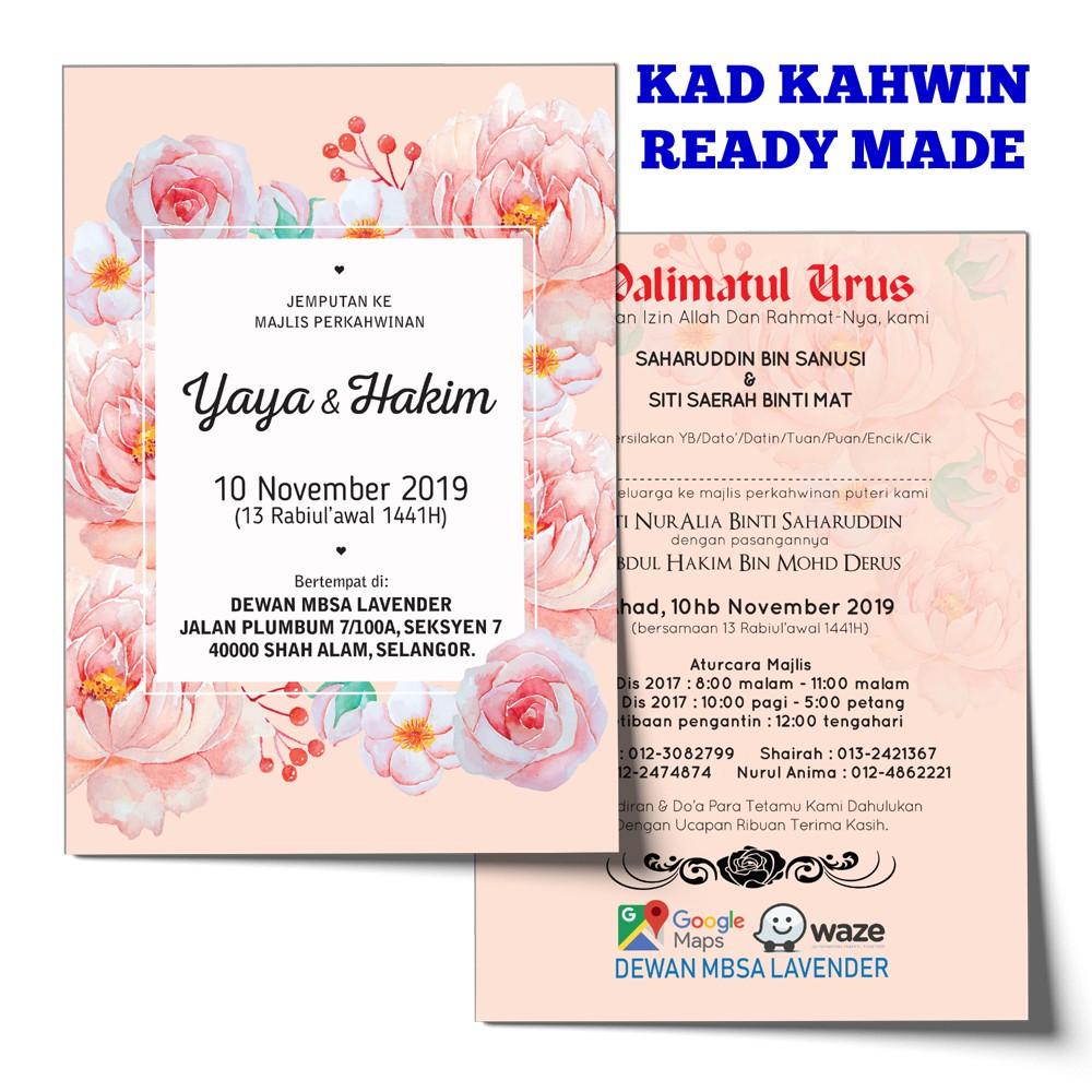 Kad Kahwin Ready Made Shopee Malaysia