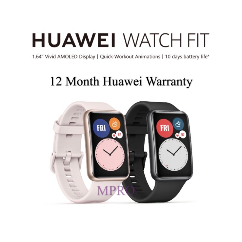 【Ready Stock】HUAWEI WATCH FIT Smart Watch Jam Tangan GPS By HUAWEI