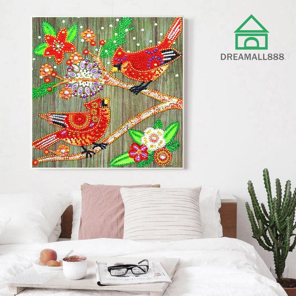 5D DIY Special Shaped Diamond Painting Magpie Cross Stitch Craft Kit Decor 20