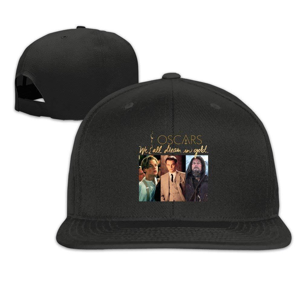 04e345346fe XCarmen Runy Custom Leonardo Dicaprio Oscars Adjustable Baseball Hat   Cap  Black