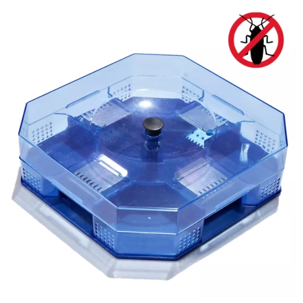 Pest Cockroach Catcher Trap with Food Lure Bait System [Upgraded Square] (Random Color)