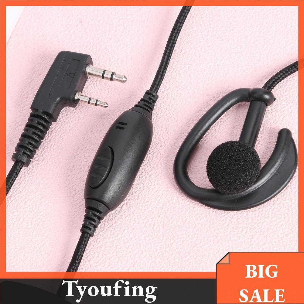 10pcs wired Air tube earpiece for BAOFENG 5R Radio UV-5R kenwood Walkie Talkie