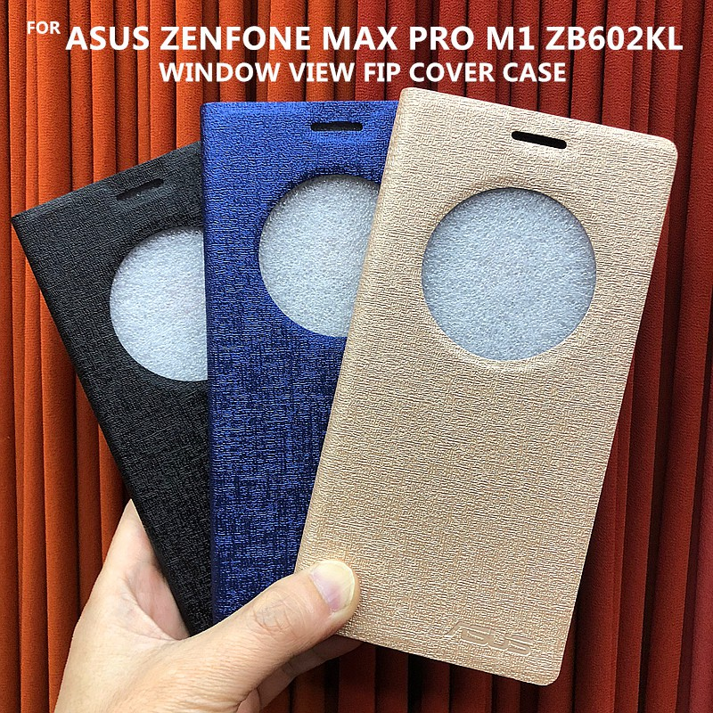 the latest 51199 ca547 ASUS ZENFONE MAX PRO M1 ZB602KL Window View Flip Cover Case(Terminos Series)