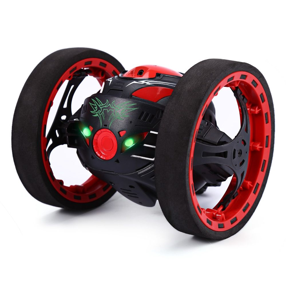 2.4G REMOTE CONTROL JUMPING CAR 2 SECOND ROTATION BOUNCE RC TOY (BLACK)