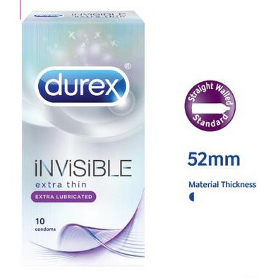 Wholesale Durex Invisible Lubricated 10s x 12 boxes
