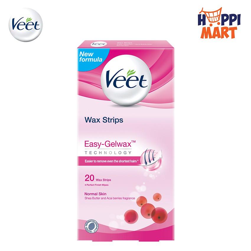 Veet Hair Removal Wax Strip 20 18 S Shopee Malaysia