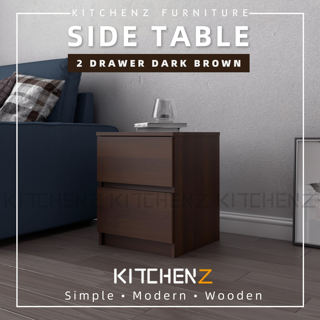 Kitchen Z 1.5FT Side Table with 2 Layer Drawer Storage / Meja Sisi - HMZ-FN-ST-7004