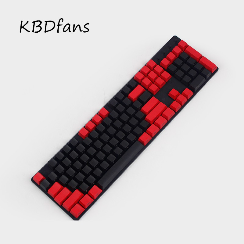 SidePrinted pbt keycaps Black Red oem mx wried mechanical gamE keyboard